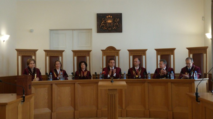 Satversmes tiesas tiesnese I.Ziemele tiek ievēlēta par Satversmes tiesas priekšsēdētāju. Foto: K.Strazda.