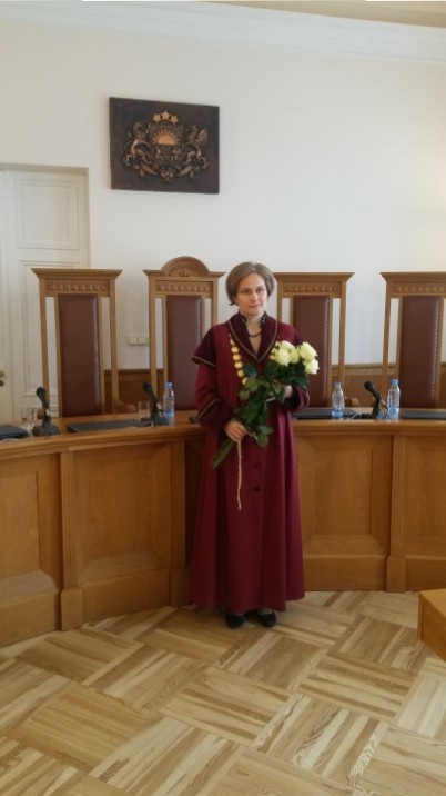 Satversmes tiesas priekšsēdētāja I.Ziemele. Foto: K.Strazda