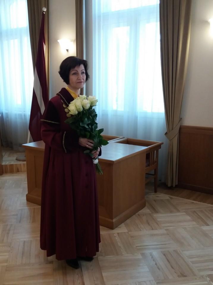Satversmes tiesas priekšsēdētājas vietniece Sanita Osipova. Foto: K.Strazda