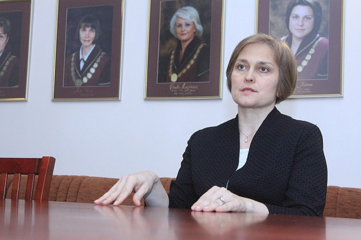 Satversmes tiesas priekšsēdētāja I.Ziemele. Foto: K. Miezāja