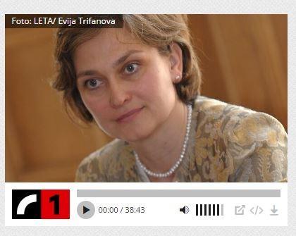 Satversmes tiesas priekšsēdētāja Ineta Ziemele. Foto: Ekrānšāviņš no www.lr1.lsm.lv.