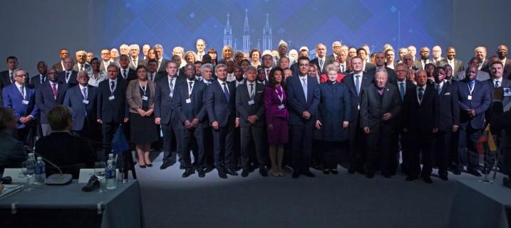 Pasaules Konstitucionālās justīcijas konferences IV kongresa atklāšanas ceremonija. Foto: Lietuvas Konstitucionālā tiesa.