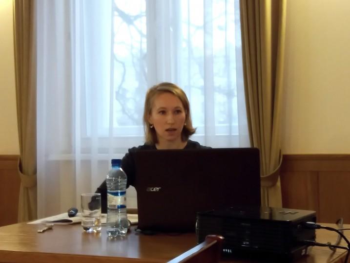 Atvērtā lekcija Satversmes tiesā par kriptovalūtām un blokčeina tiesībām. Foto: K. Strazda