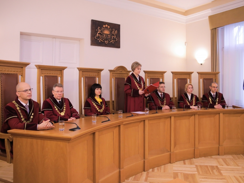 Satversmes tiesas svinīgā sēdē (10.01.2020.). Foto: Aleksandrs Kravčuks